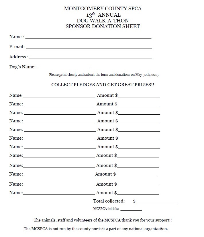 pledge sheets donation tracker templates free word excel charitable
